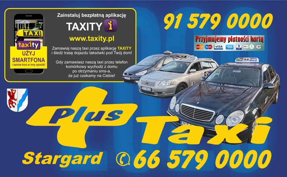 Plus Taxi Stargard – najtańsza taksówka w Stargardzie